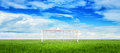 Football goalpost soccer concept background with Royalty Free Stock Photography