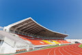 Football grandstand th anniversary sport stadium chiang mai thailand Royalty Free Stock Photo