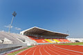 Football grandstand in th anniversary sport stadium at chiang mai thailand Royalty Free Stock Photo