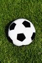 Football on grass Stock Image