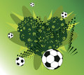 Football heart abstract background vector illustration Stock Photo