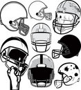 Football Helmet Collection Stock Photo