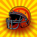 Football helmet pop art style vector illustration