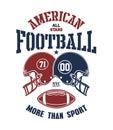 Football Helmet Stylized vector illustration.