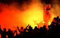 Football hooligans Royalty Free Stock Photo