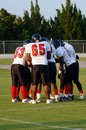 Football huddle Royalty Free Stock Photo