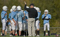 Football huddle Stock Photography