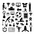 Football icon set Royalty Free Stock Photo