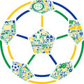 Football illustration an association composed of related icons and words Royalty Free Stock Image