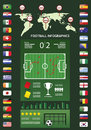 Football infographics Royalty Free Stock Images