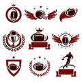 Football labels and icons set vector Stock Photography