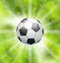 Football light background with ball illustration Stock Images