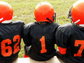 Football - little league players Stock Image