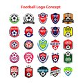 Football Logo Concept Vector Template Design Illustration