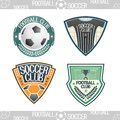 Football logo the emblem of the clubs Royalty Free Stock Photography