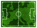 Football map central europe d soccer grassy field on Royalty Free Stock Photography