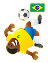 Football mascot Brazil Royalty Free Stock Photos