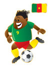 Football mascot Cameroon Stock Photo