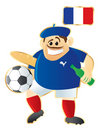 Football mascot France Royalty Free Stock Photography
