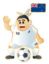 Football mascot New Zealand Stock Photos
