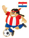 Football mascot Paraguay Royalty Free Stock Photo