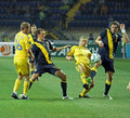 Football match national sweden teams ukraine 库存照片