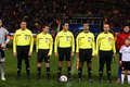 Football match referees Stock Image