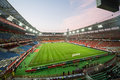 Football match between russia national team and ivory coast moscow aug at lokomotiv stadium on august in moscow the game Royalty Free Stock Photo