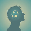 Football in mind vector illustration of soccer Stock Photo