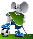 Football mouse sport mascot of playing Royalty Free Stock Images
