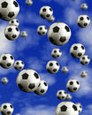 Football multiball Royalty Free Stock Photography