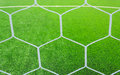 Football net on green grass photo of Royalty Free Stock Photo
