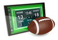Football and new communication technology Royalty Free Stock Photo