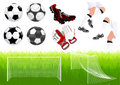 Football objects Stock Images