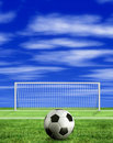 Football - penalty kick Stock Photos