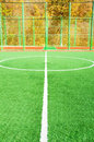 Football pitch on bright day Stock Photos