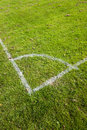 Football Pitch Corner Markings Royalty Free Stock Photo