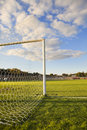 Football pitch goal post Royalty Free Stock Photo
