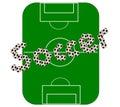 Football pitch (vector) Stock Photos