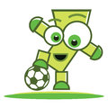 Football player character Royalty Free Stock Photo