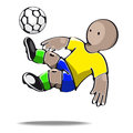 Football player kicking the ball vector illustration of Stock Image