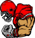 Football Player Lineman Vector Cartoon Royalty Free Stock Photography