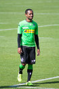 Football player Raffael in dress of Borussia Monchengladbach Royalty Free Stock Photo