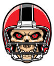 Football player skull vector of all element is separated Royalty Free Stock Image
