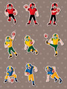 Football player stickers Stock Photography