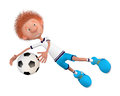 The football player on training Stock Image