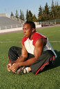 Football Player Workout Royalty Free Stock Photo