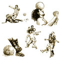 Football players Royalty Free Stock Image