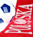 Football Polish symbols Royalty Free Stock Photography