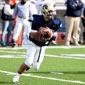 Football quarterback Royalty Free Stock Photo
